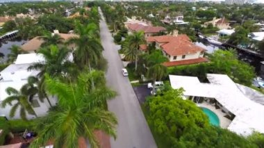 Aerial real estate in Fort Lauderdale Florida drone gopro — Stock Video