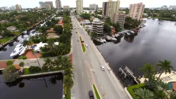 Immobilier aérienne à fort lauderdale en floride drone gopro — Vidéo