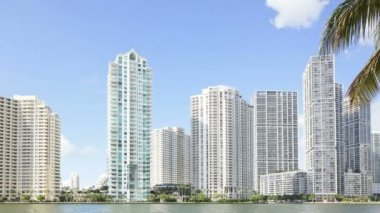 Brickell timelapse video — Stock Video