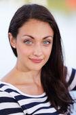 Portrait of a woman with hazel eyes — Stock Photo