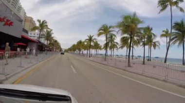 Drivers pov of Fort Lauderdale Florida — Stock Video