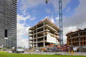 Construction of the Frost Art Museum at Downtown Miami — Stock Photo