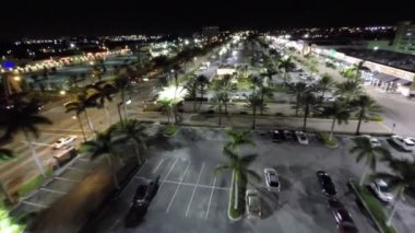 Aerial night video of the city — Stock Video
