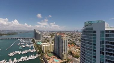 Panorama Miami Beach Marina — Stock Video