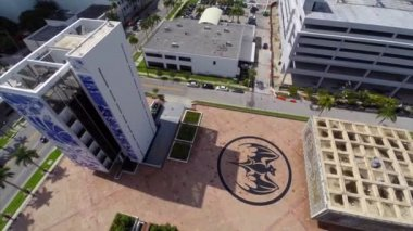 Bacardi Headquarters building in Miami — Stock Video