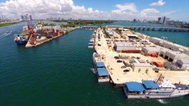 Port of Miami Florida — Stock Video