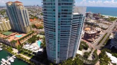Birdseye view of downtown Miami — Stock Video