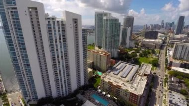 Miami by Biscayne Boulevard — Stock Video