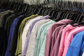 Shirts on a rack — Stock fotografie