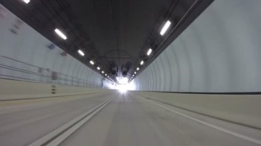 Driving through Port Miami Tunnel — Stock Video