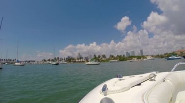 Boating in Miami — Stock Video