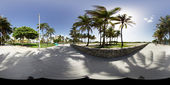 Miami Beach panorama for virtual tours — Stock Photo