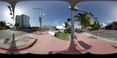 Miami Beach panorama for virtual tours — Stock Photo