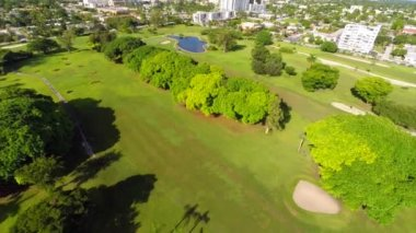 Golf course Hollywood Florida circa 2014 — Stock Video