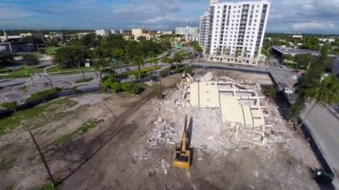 Demolition of the building in Miami — Stockvideo