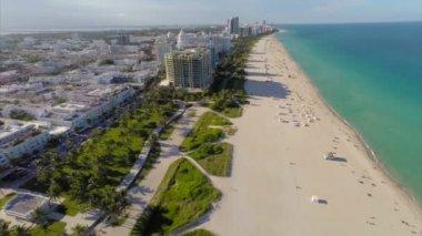 Miami Beach drone video — Stock Video