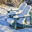 Stock Photo: Winter Garden Chairs