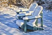 Winter Garden Chairs — Stock Photo