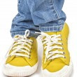 Yellow Sneakers — Stock Photo