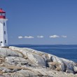 Peggy's Cove lighthouse, Nova Scotia — Stock Photo #18425189