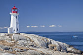 Peggy's Cove lighthouse, Nova Scotia — Stock Photo