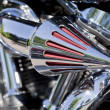 Motorcycle Chrome Breather — Stock Photo