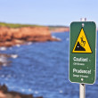 Stock Photo: Cliff Danger Sign