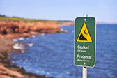 Cliff Danger Sign — Foto Stock