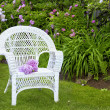 White Wicker — Stock Photo