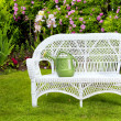 White Wicker - Stock Photo