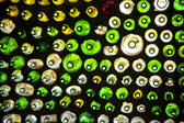 Wall of Bottles — Stock Photo