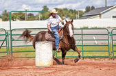 Barrel Racer — Stockfoto