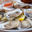 Platter of Oysters — Stock Photo