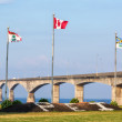 Prince Edward Island and the Confederation Bridge — Stock Photo