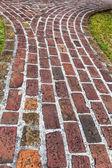 Antyczne cegła chodnik — Zdjęcie stockowe