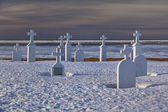 Winter Cemetery — Stock Photo