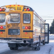 Stock Photo: Winter School Bus