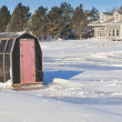 Stock Photo: Ice Fishing Shack