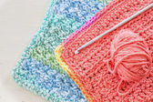 Crocheted Dishcloth — Stock Photo