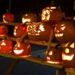 Carved Halloween Pumpkins — Stock Photo