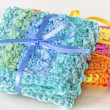 Crocheted Dishcloths — Stock Photo