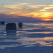 Sundown Ice Fishing — Zdjęcie stockowe #40301727