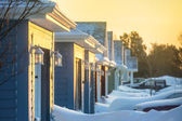 Winter Neighborhood — Stock Photo