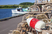 PEI Lobster Traps — Stock Photo