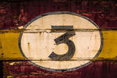 Old Wooden Number Signs — Stock Photo