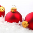 Red Christmas Ornaments — Stock Photo #6892001
