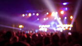 Concert audience blurred background — Stock Photo