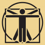 Vector minimalistic vitruvian man — Stock Vector #17685129