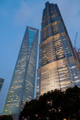 Shanghai World Financial Center and Jin Mao Tower — Stock Photo