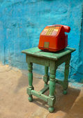 Colorful public phone — Stock Photo